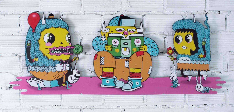 "DRIP'IN wall decoration ""Trio"" by Frenemy"