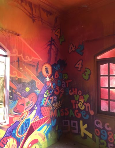 """DRIP'IN detail of """"House of Paint"""" murals by SubyOne"""