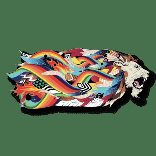 """Lithographie acier   """"Lion King"""" Céz'art"""