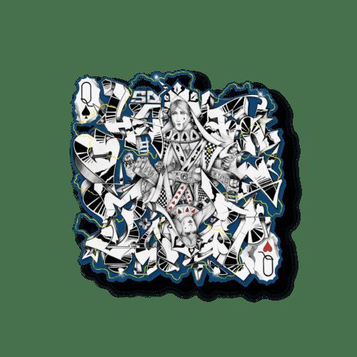 """Lithographie acier """"Pallas & Judith"""" blue édition Demais"""