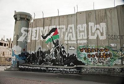 Graffiti protest in Bethlehem