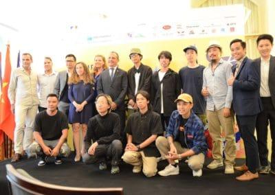 DRIP'IN et les sponsors au lancement du SUAF21