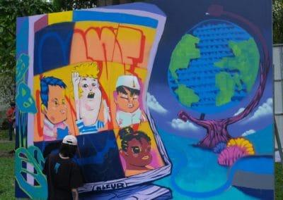Street art Jam session April 2021 artist KLEUR