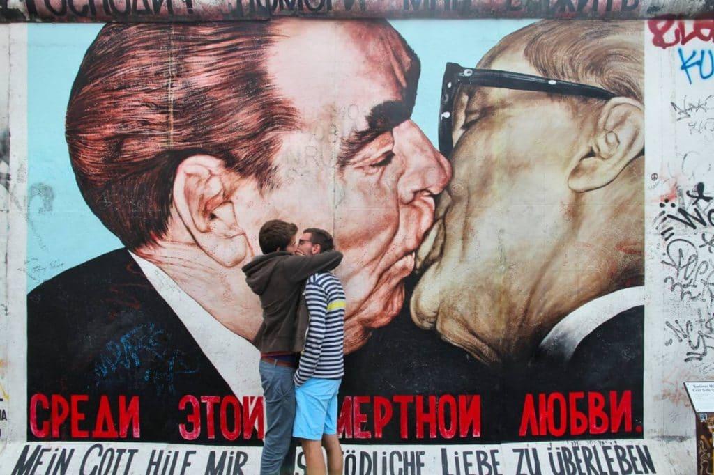Berlin wall with street art