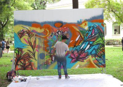 Travail en cours pour le street artist SUBY ONE - Jam avril 2021