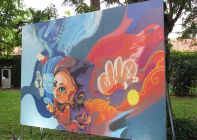 Travail de l'artiste ZKHOA Jam avril 2021 Saigon Vietnam