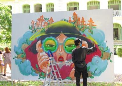 Work in progress by Street artist CRESK