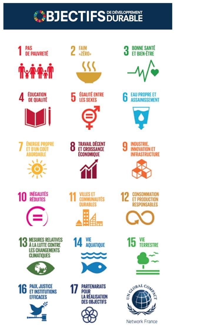 """Programme """"Objectifs de Objectifs de Développement Durable"""" de l'ONU"""