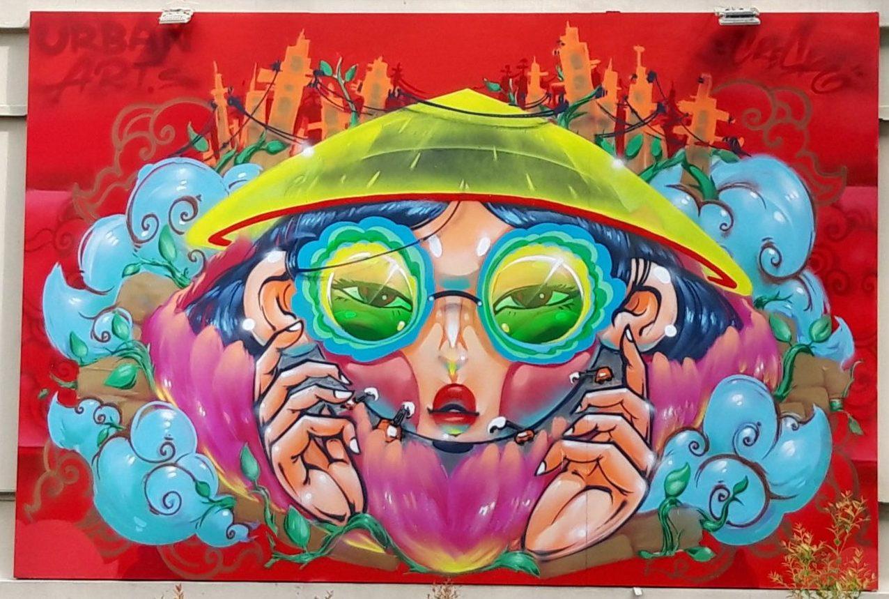 Street art Jam Saigon 2021 - Cresk painting Sustainable cities and communities