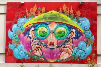 Jam Saigon 2021 - La fresque de Cresk sur le thème Villes et communautés durables