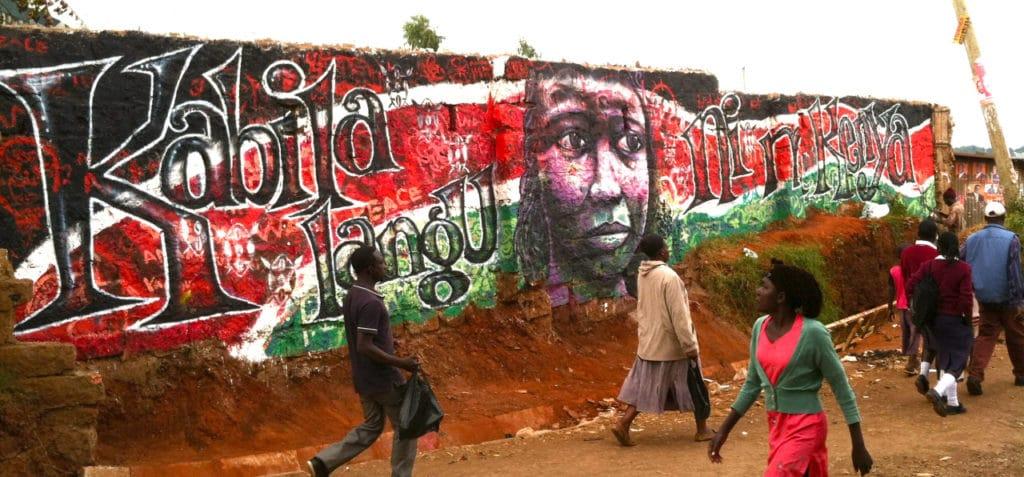 Street art Graig Kibera au Kenya