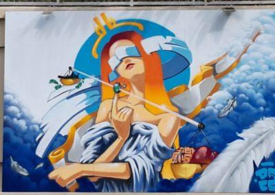 am de Saigon 2021 - La fresque de Daes sur le thème Paix, justice et institutions efficaces
