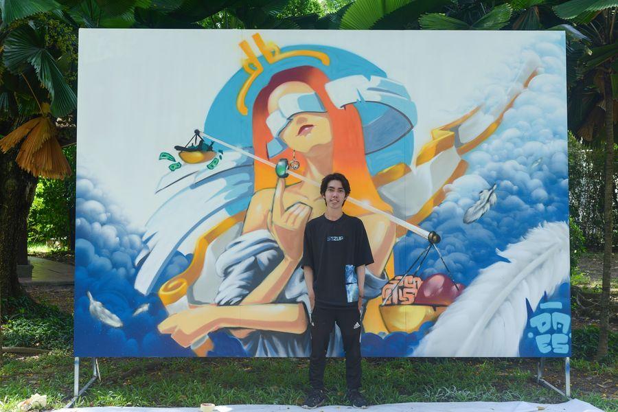 Street art Jam session's winner Daes