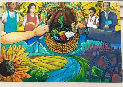 """Jam de Saigon 2021 - La fresque de Kingi sur le thème Faim """"Zéro"""""""