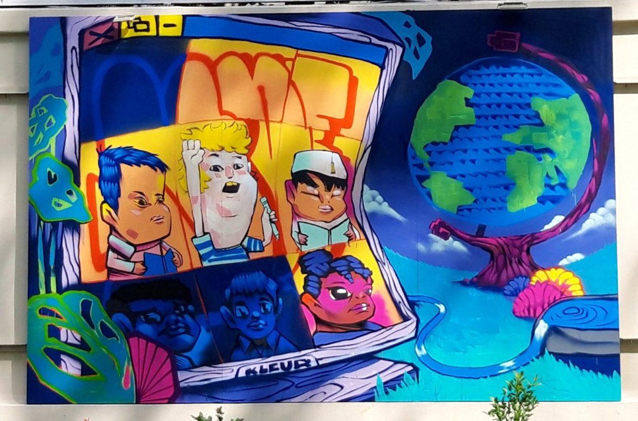 Jam de Saigon 2021 - La fresque de Kleur sur le thème Education de qualité
