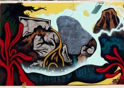 Street art Jam Saigon 2021 - La fresque de Vuiqa sur le thème Mesures relatives à la lutte contre les changements climatiques