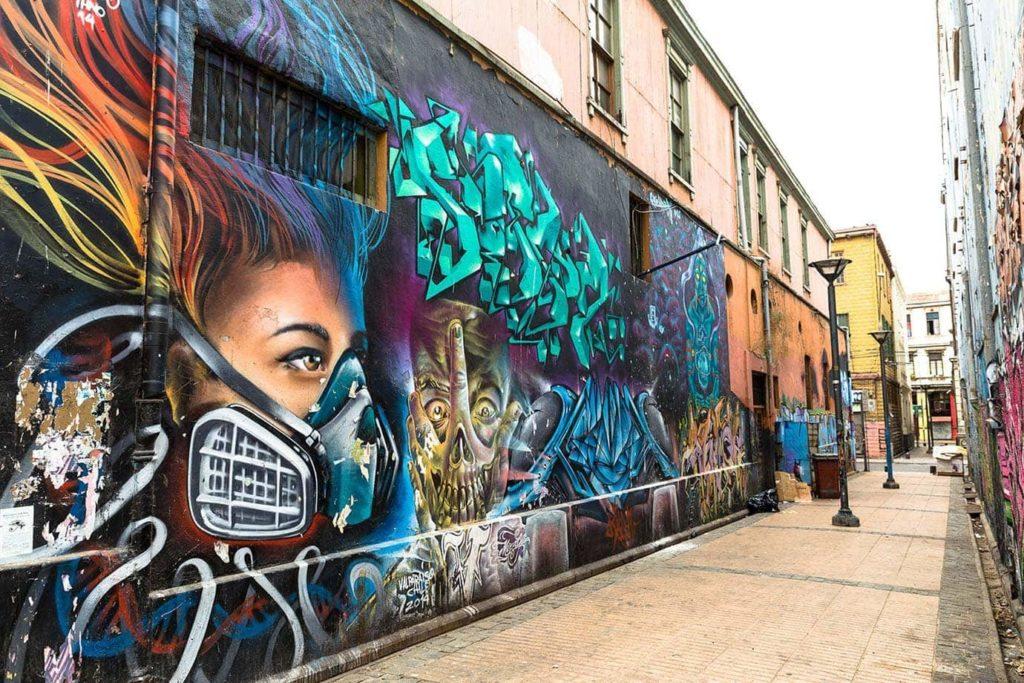 Chili street art à Valparaiso