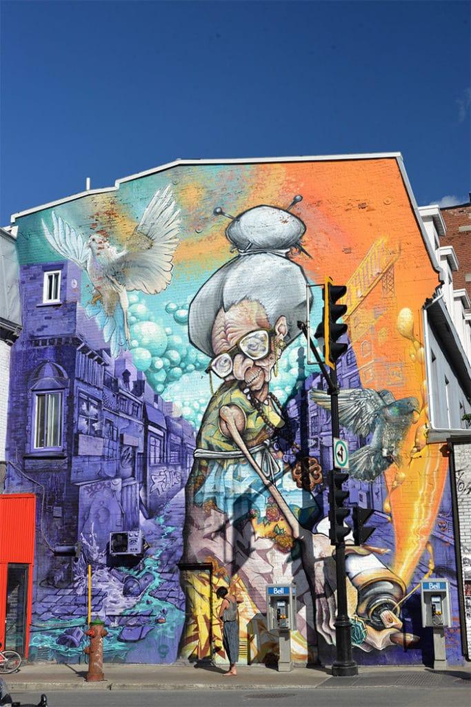 Montréal Fresque du A'Shop crew  sur le Plateau