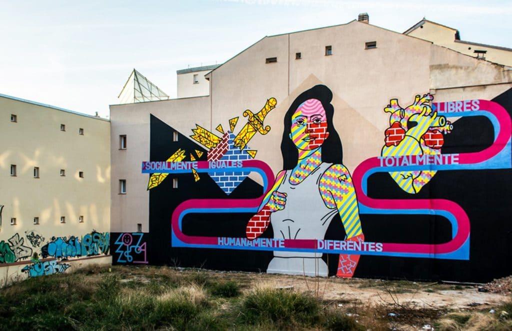 Street art en Espagne à Madrid