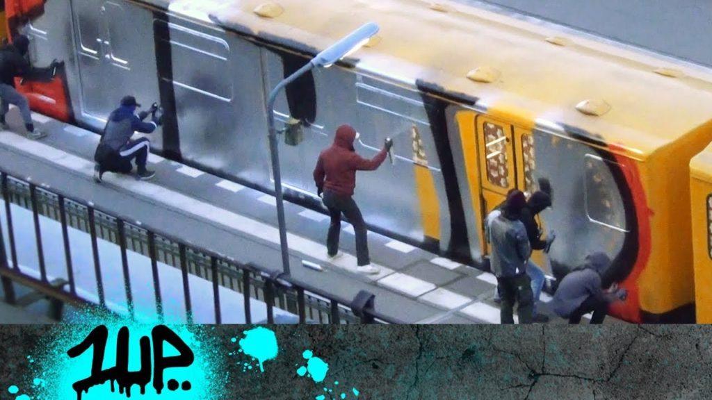 Berlin - 1UP crew graffiti