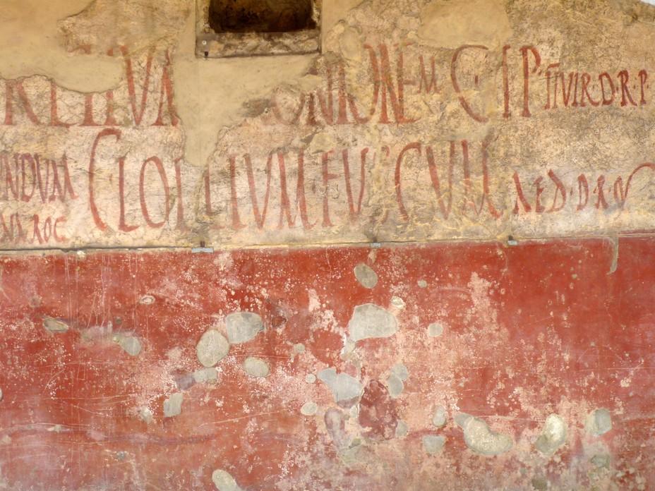 Grffiti d'une campagne politique à Pompéi (Mirko Tobias Schäfer Flickr)